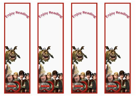 printable dragon bookmarks how to train your dragon themed bookmarks themed