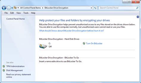 how to enable bitlocker it