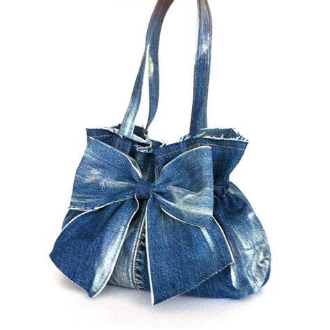 blue jean purses patterns jean purse recycled denim bow bag blue handbag