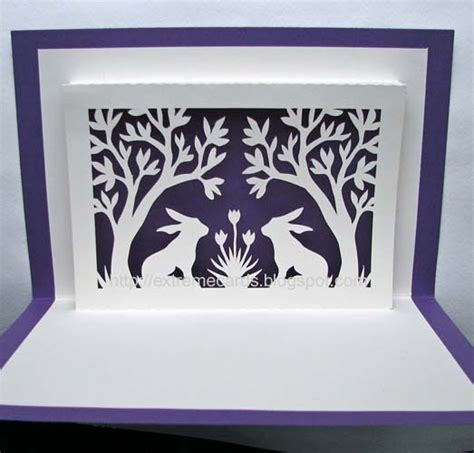 Pop Up Easter Card Template Free by Cards And Papercrafting Bunnies And Trees Window