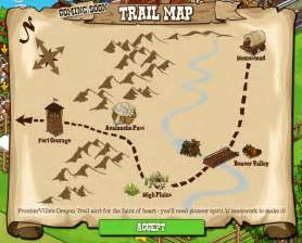 map of the oregon trail frontierville oregon trail map revealed looks easy enough