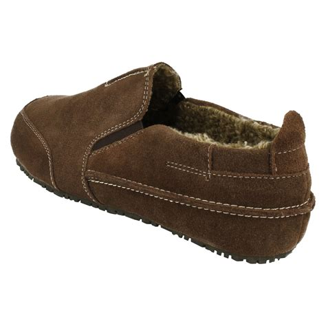 mens house slippers mens clarks slip on house slippers kite laser ebay