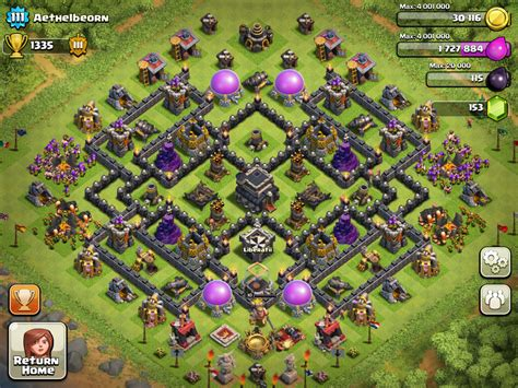 layout coc th9 best coc th9 hybrid base myideasbedroom com