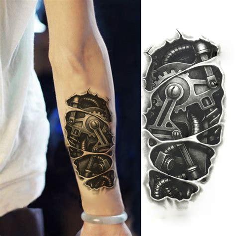 1pcs stylish 3d waterproof robot arm tattoo sticker tattoo