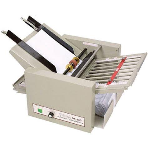 Second Paper Folding Machine - zbafolddt850 ledah dt850 paper folding machine a3