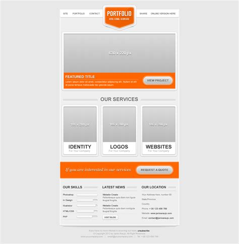 email template themeforest portfolio email template by janio araujo themeforest