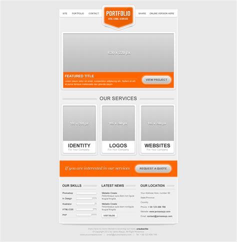 portfolio email template by janio araujo themeforest