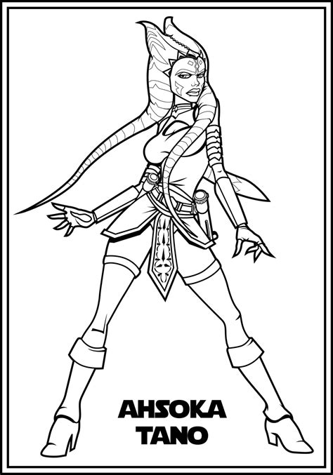 coloring pages ashoka ahsoka color me by the magelord on deviantart