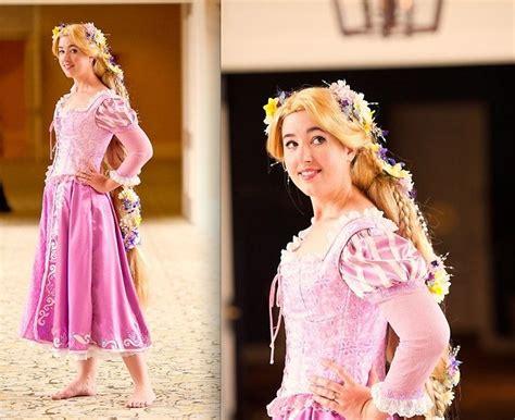 Handmade Rapunzel Dress - aimee s handmade rapunzel flowered wig handmade