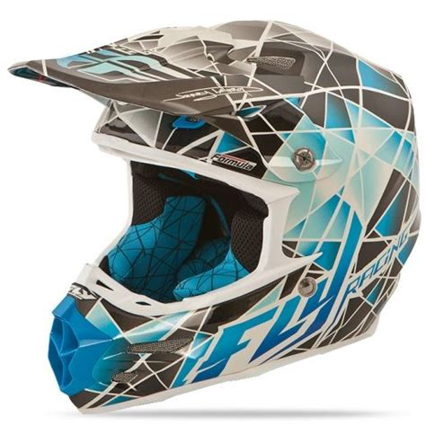 motocross snowmobile helmets formula facet blue silver helmet fly racing