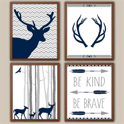 wall decor for boys woodland nursery for boys tribal boys wall decor stag