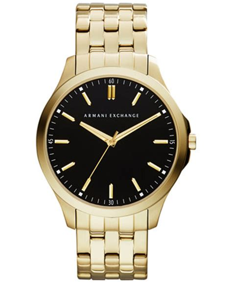 a x armani exchange s gold tone stainless steel