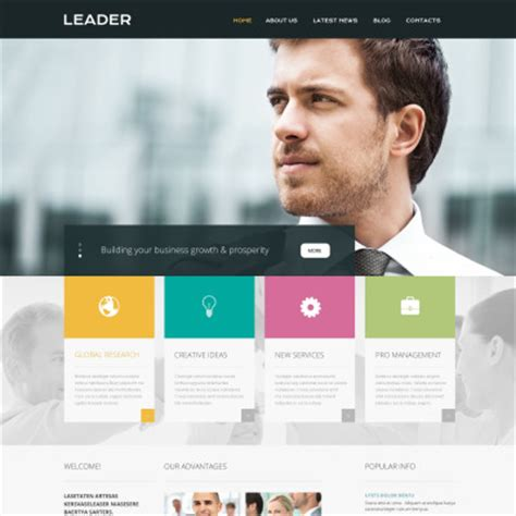 Free Website Template For Consulting Business Business Consulting Website Templates