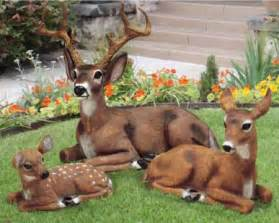 deer family garden statues doe buck fawn animal decor ebay