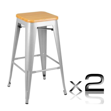 tolix metal bar stools 2x replica tolix steel wood bar stool 76cm buy furniture