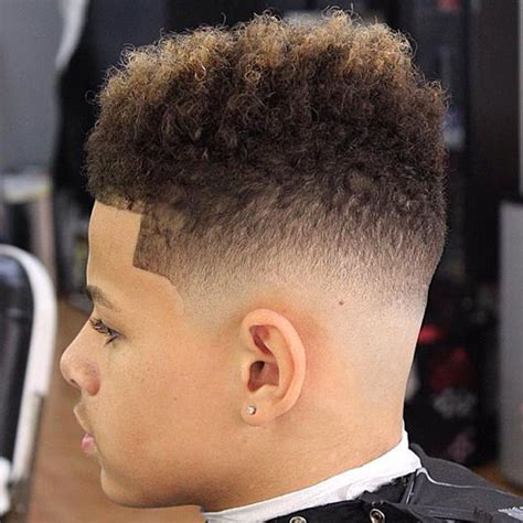 curly taper fade short hairstyles for men