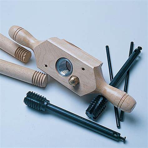 Usa Made Kitchen Knives Tap And Die Set Wood Threader Amp Tap Die Set Garrett Wade