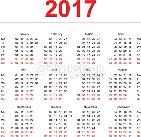 Calendar By Week Number 2017 Weekly Number Calendar 2017 Weekly Calendar Template