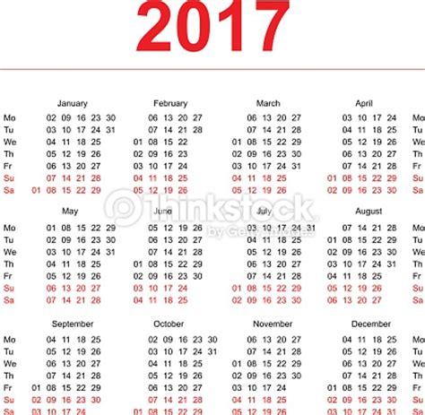 weekly number calendar 2017 | weekly calendar template