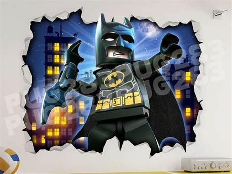 lego batman wallpaper mural lego batman 3d look wall vinyl sticker poster marvel dc