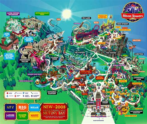 theme park uk map it might be possible to produce some kind of navigational