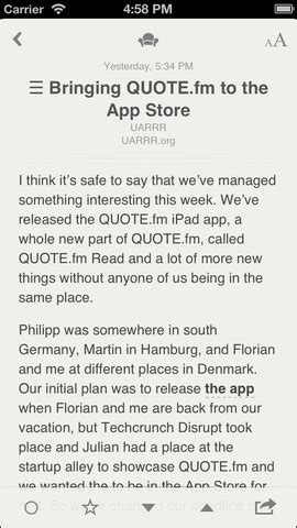 reeder for iphone goes free, support for google reader