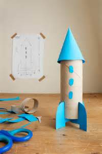 How To Make A Paper Rocket For School Project - back to school cardboard rocket diy cardboard and