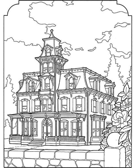 Victorian House Coloring Pages Free | victorian house coloring pages az coloring pages