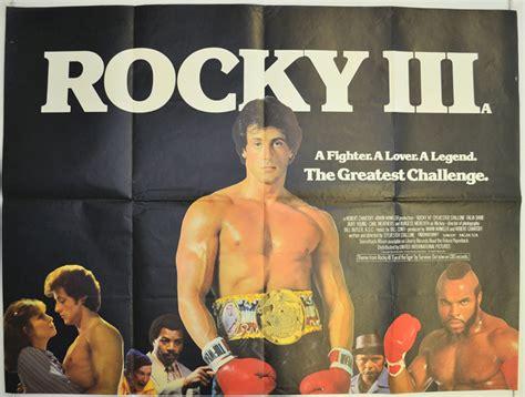 Rocky Iii 1982 Full Movie Rocky Iii 1982 Original Quad Movie Poster Sylvester Stallone Talia Shire Ebay