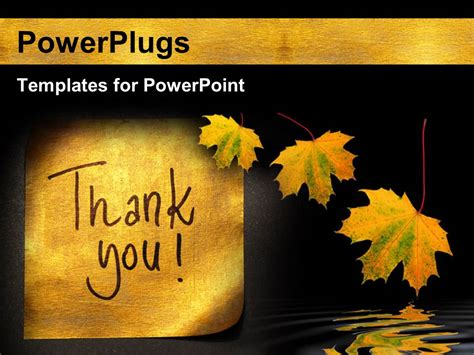 powerpoint templates thank you powerpoint template thank you message handwritten on gold