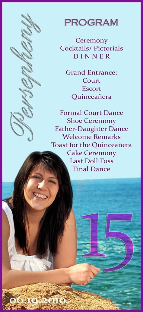 quinceanera program templates quinceanera program templates quinceanera program exles