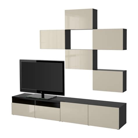besta system best 197 tv storage combination black brown selsviken high