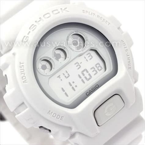 Casio Dw 6900ww buy casio g shock matt all white monotone digital dw