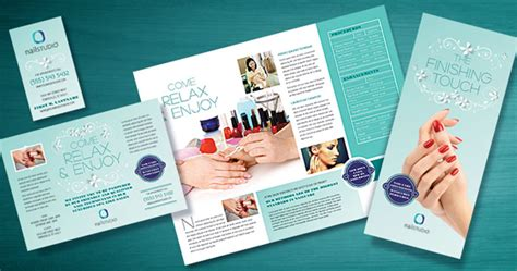 Nail Technician Designs To Polish Your Marketing Caign Stocklayouts Blog Nail Brochure Templates Free