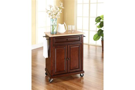 mahogany kitchen island natural wood top portable kitchen cart island in vintage