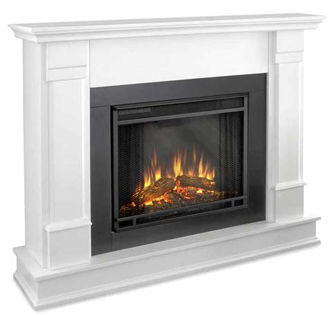 Electric Fireplace White Silverton G8600e W White Electric Fireplace Just Fireplaces