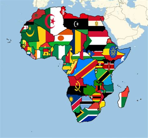 map the countries of africa with their flags: new in