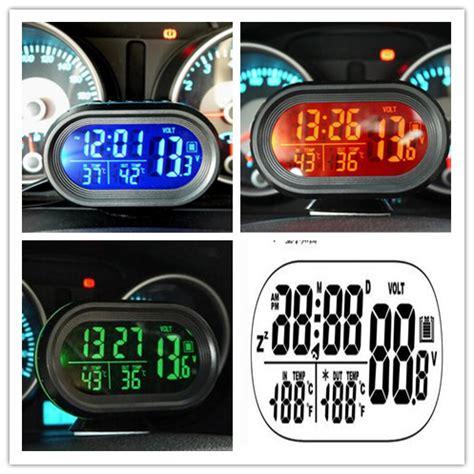 Multi Digital Display Meter Clock Date Thermometer Voltmeter á ç à 12v 24v digital ì ì car car thermometer voltage meter monitor ã ã luminous luminous clock