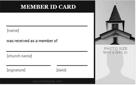 church membership id card template 5 best church id card templates for ms word microsoft