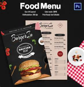 burger menu template restaurant flyer template 56 free word pdf psd eps