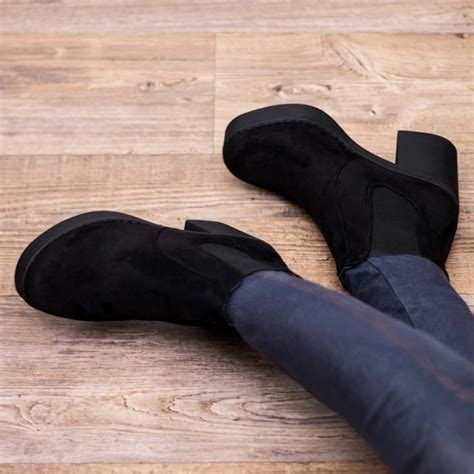 black doll boots doll black ankle boots shoes from spylovebuy