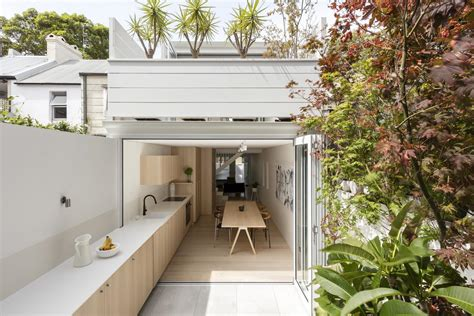 modern terraced house renovation idea with outdoor