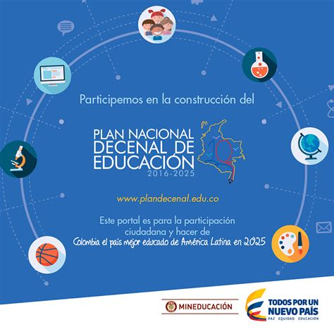 subportal de educacin escalafones 2016 plan nacional decenal de educaci 243 n 2016 2025
