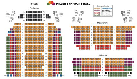 seating chart seating chart miller symphony downtown allentown