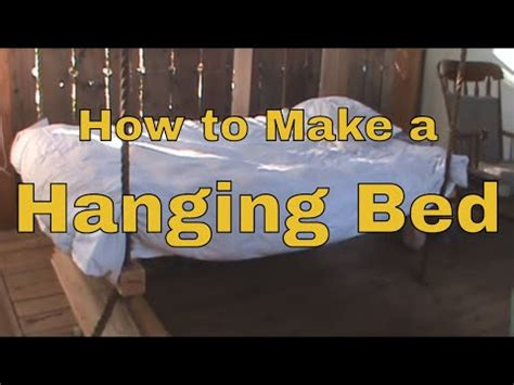 how to make a hanging bed how to make a hanging bed wooden hammock youtube