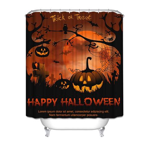 pumpkin shower curtain 150x180cm happy halloween pumpkin polyester shower curtain