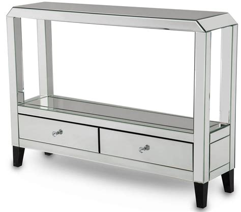 mirrored console tables with drawers aico mirrored console table with drawers