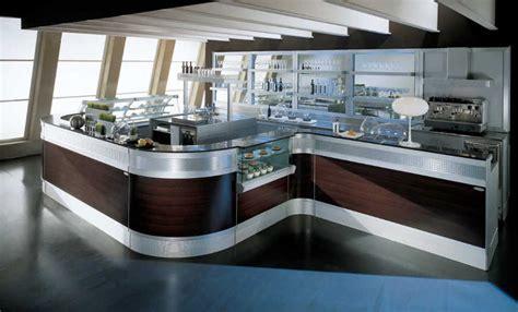 mensole illuminate banco bar linear con mensole illuminate degart