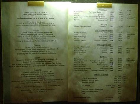 menu outside the restaurant picture of la maison du jardin tripadvisor
