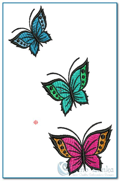 Designs Photos 3 colours beautiful butterfly embroidery design emblanka